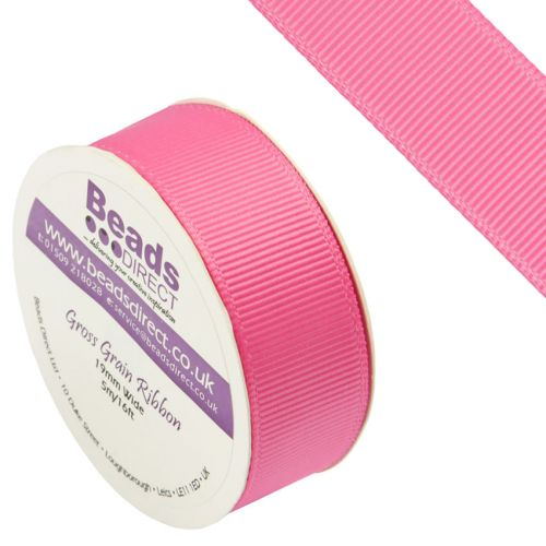 X-Hot Pink Grosgrain Ribbon 19mm Sold on a 5 Metre Reel