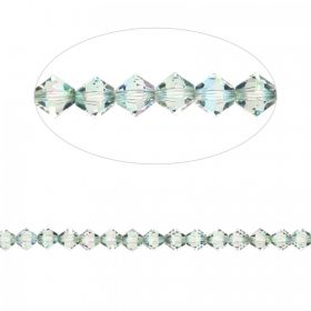 5328 Swarovski Crystal Bicones Xillion 3mm Crystal Paradise Shine Pk24