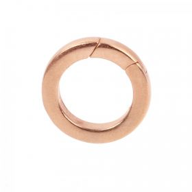 Rose Gold Plated Brass Lever Ring Clasp 22mm Pk1