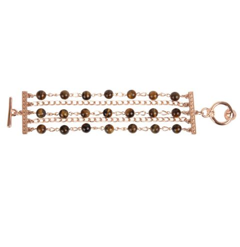 Tiger Eye Chain Bracelet