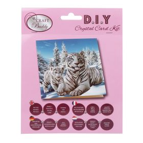 Beads Direct 'Snowy White Tigers' Crystal Card Kit