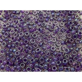 TOHO ™ / Round 15/0 / Inside-Colour Rainbow / Crystal / Tanzanite Lined / 10g / ~ 1400pcs