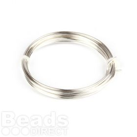 Silver Plated Copper Wire 1.5mm 1.75metre Coil Non Tarnish