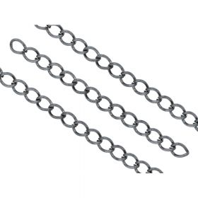 Extension chain / 7cm / wire thickness 0.8mm / black / 20pcs