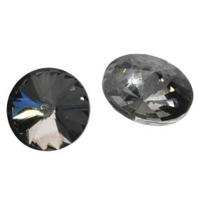Bonny™ / crystal glass / rivoli / 18mm / Black Diamond / 4pcs