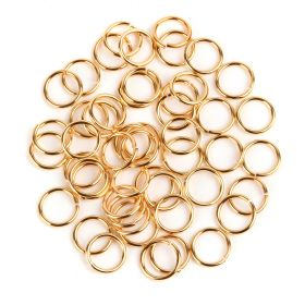 Gold Plated Jump Rings 10.5mm (1.2mm thick) Pk50