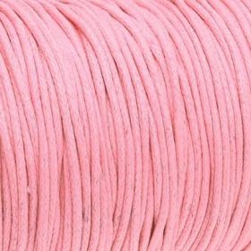 Waxed cord / 1.5mm / pink / 1m