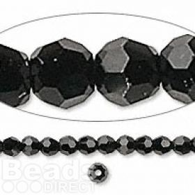 5000 Swarovski Crystal Faceted Rounds 3mm Jet Pk12