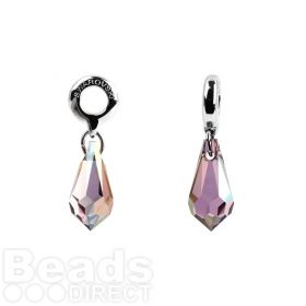 87001 Swarovski Crystal Classic Charm BeCharmed 15mm Crystal Lilac Shade Pk1