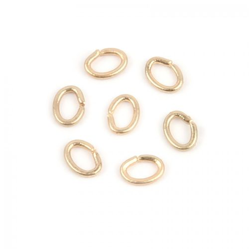 X Matte Gold Small Oval Jump Rings 3x4mm Pk25