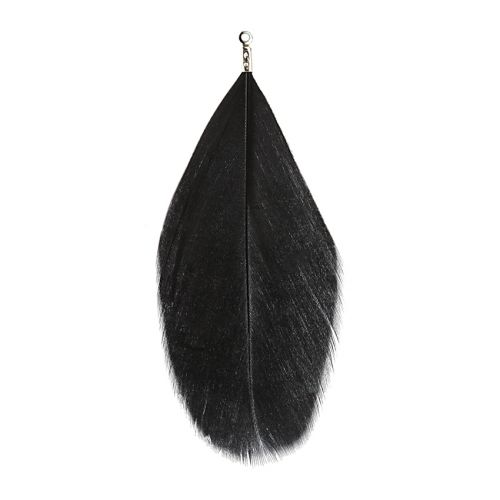 X Black Large Feather Charm 75mm Pk6
