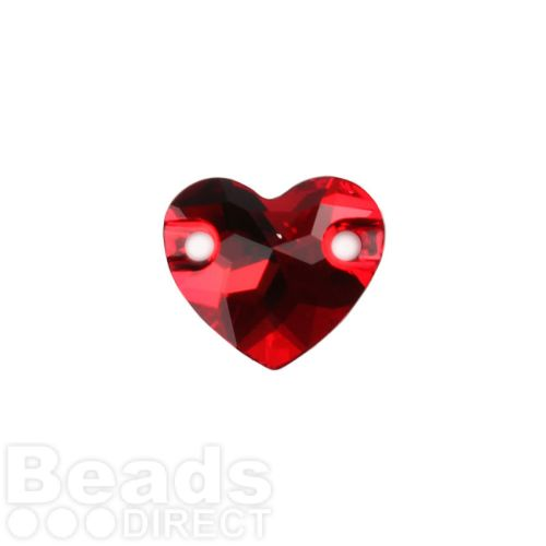3259 Swarovski Crystal Heart Sew On Stone 12mm Light Siam F Pk1