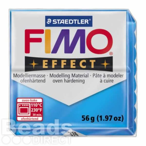 Staedtler Fimo Effect Polymer Clay Translucent Blue 56g (1.97oz)