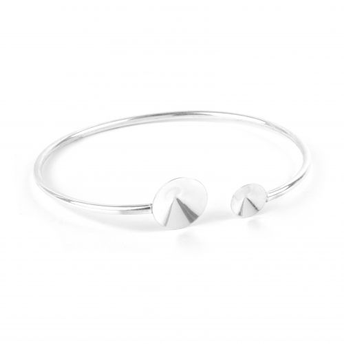 X- Sterling Silver 925 Bangle Base 50x60mm Rivoli 8mm/12mm Pk1