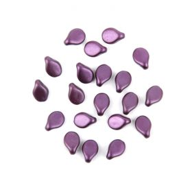 Preciosa Czech Pressed Glass Pip Frosted Violet 5x7mm Pk20