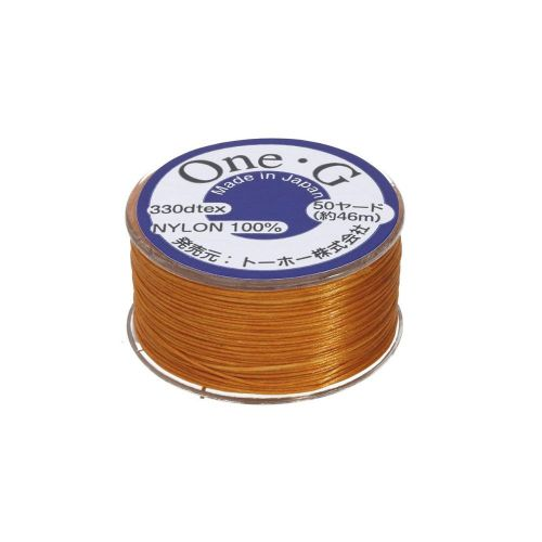 TOHO One-G ™ / nylon thread for beads / Orange / thickness 0.35mm / 46m