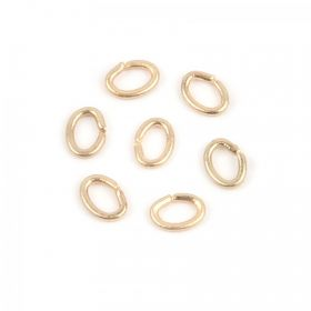 Matte Gold Small Oval Jump Rings 3x4mm Pk25