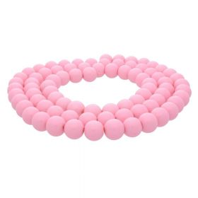 Milly™ / round / 8mm / light pink / 100pcs