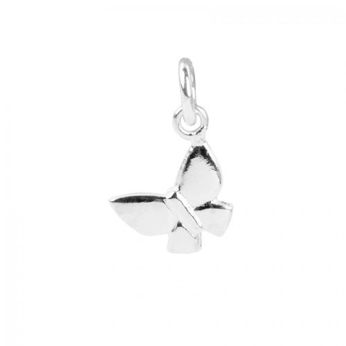 x Sterling Silver 925 Small Butterfly Charm 8x9mm Pk2