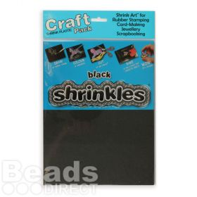 Shrinkles Black Shrink Plastic 262x202mm PK6