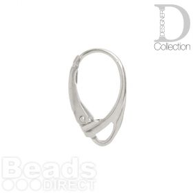 Titanium Plated Ear Wires Lever Back 18mm With Loop 1xPair