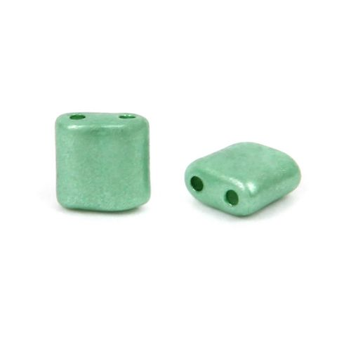 Preciosa Pressed Glass KARO Beads 5mm Frosted Green 10g