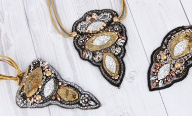 Sparkle Soutache Pendants by Katalin Appadoo