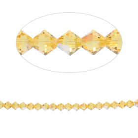 5328 Swarovski Crystal Bicone Beads 6mm Light Topaz Shimmer Pk24