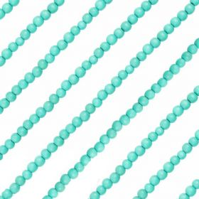 """Round Wood Beads in Turquoise 5/6mm 16"""" Strand"""