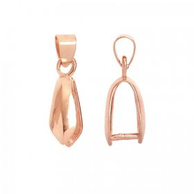 Rose Gold Plated Large Pendant Bail 6x15mm Pk1