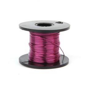 Bright Violet Coloured Copper Craft Wire 0.5mm 25metre Reel