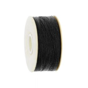 Beadalon ™ / thread NYMO / nylon / 00 / Black / 128m