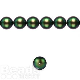 5810 Swarovski Glass Pearl 8mm Crystal Scarabaeus Green Pk25