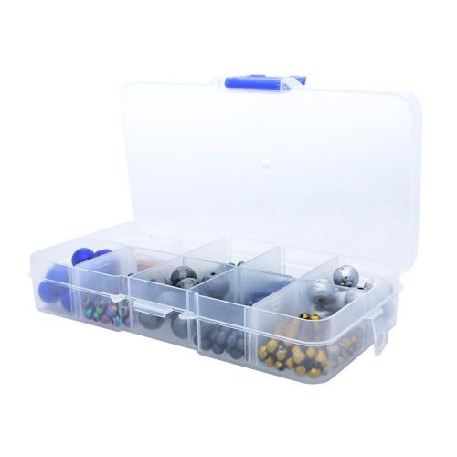 Organiser / plastic / 10 compartments / 7x13x2cm / 1pcs