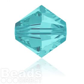 5328 Swarovski Crystal Bicones 8mm Light Turquoise Pk288