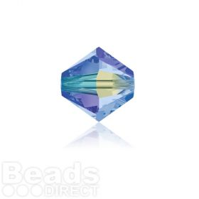 5328 Swarovski Crystal Bicones 4mm Light Saphhire AB 2x Pk1440
