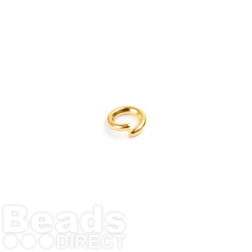 Gold Plated Iron Jumprings 4mm 0.8mm Thick Pk100