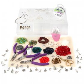 Limited Edition Christmas Jewellery Making Starter Kit, including pliers