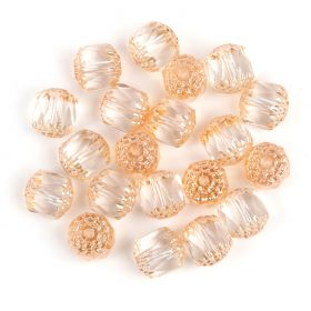 Preciosa Pressed Cathedral Beads Topaz/Silver 10mm Pk20