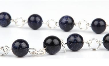 Beads of the Week: Blue Goldstone