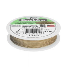 Beadalon ™ / flexible jewellery wire / 7 strand / 0.38mm / Gold / 9.2m