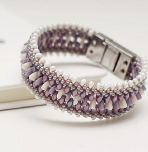 How to make a double bracelet on a Kumihimo disk - step by step jewellery making tutorial