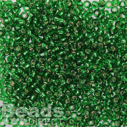 Toho Size 6 Round Seed Beads Silver-Lined Grass Green 10g