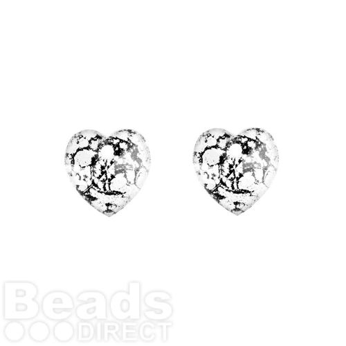 6228 Swarovski Crystal Hearts 10mm Crystal Black Patina Pk2