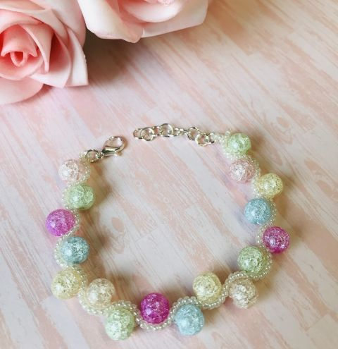How to make a beaded wave bracelet - jewellery making tutorial