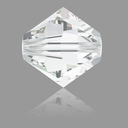 5328 Swarovski Crystal Bicones Xillion 8mm Crystal Clear Pk6