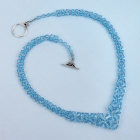 Blue Graduated Bicone Necklace Kit Made with Swarovski - Makes x1