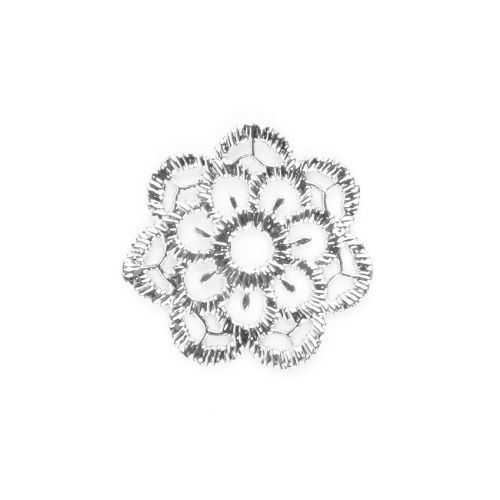 x Titanium Plated Lace Effect Filigree Flower 23mm Pk1