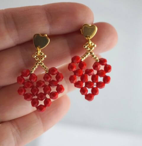 How to make a Heart with Beads - Beading for Beginners