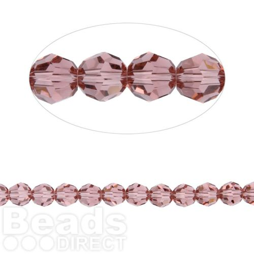 5000 Swarovski Crystal Faceted Rounds 3mm Blush Rose Pk12
